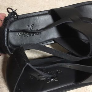 American Eagle Outfitters Shoes - American Eagle Black Sandals Size 10